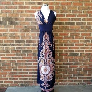 V-Neck Paisley Print Dress